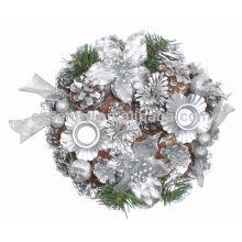 Bougeoir décoratif en forme de bouchon de pin pour Noël
