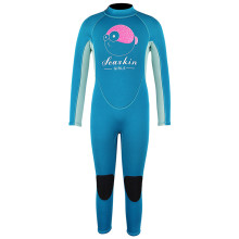 Seaskin Girls Back Zipper Blue Color Surfing Wetsuits