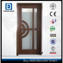 Puerta de acero del diseño de la puerta de cristal de aluminio con el vidrio moderado y el caminar decorativo en