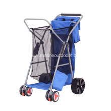 Lightweight Folding Fishing Beach Trolley Cart with 4 Wheels
