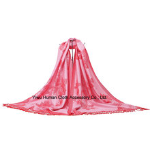 Wholesale Jacquard Flowers Scarf for Lady
