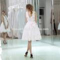 Дамы Чистый Белый Короткий Мусульманских Вечернее Платье Для Свадьбы
