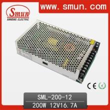 200W 12VDC 16.7A Fuente de alimentación de CA / CC SMPS Diseñado para LED
