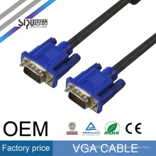 SIPU High quality vga cable db15 male to female vga cable 20m 3+6 all copper