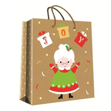 CHRISTMAS SERIES KRAFT GIFTBAG25-0