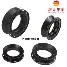 Black Color 12 Cm Hand Wheel Plastic Wheel Plastic Spool