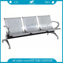 AG-TWC001 hospital 3 plazas de acero inoxidable sillas de sala de espera utilizadas