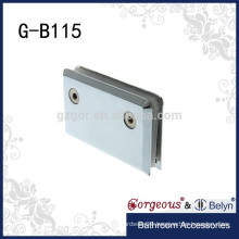 0 degrees stainless steel wall mount glass clamp