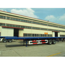 40 'two axling flatbed مع BOGGIE SUSPENSION SEMI-TRAILER