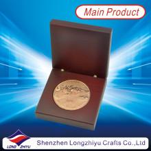 Ronda golf deportes campeón premio metálico de cobre moneda insignia personalizada medalla 2d monedas conmemorativas (lzy1300008)