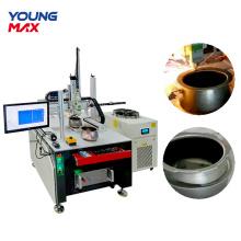 Machine de découpe laser à fibre d'acier en métal CNC
