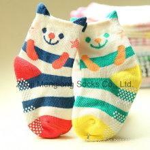 3D Cuff Cute Cartoon Kid Socks with Anti-Skip Dots