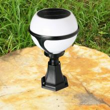 2013 venta caliente al aire libre CE iluminación solar ball forma lámpara de pared para jardin, césped