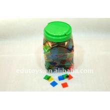 Children toys Transparent color tiles