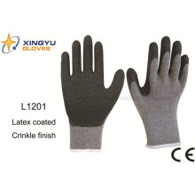 10g T/C Shell Latex Crinkle Safety Work Glove (L1201)