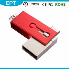Rojo minúsculo 2 en 1 8GB OTG USB Flash Pendrive para regalos promocionales