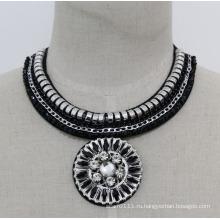 Дамы мода Кристалл бисера Шарм костюм колье Кулон ожерелье (JE0017)