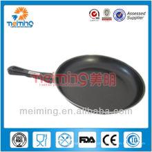frigideira redonda do ferro fundido antiaderente com punho dos pp