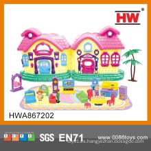 Precioso juguete de plástico mini muebles de casa de muñeca para las niñas
