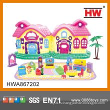 Прекрасная пластиковая мини игрушка кукла мебель для дома для девочек