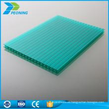 De alta calidad de protección UV doble pared 4 mm policarbonato hueco cartel skylight techo hoja compacta