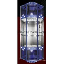 Diamond Shape Panoramic Elevator with Capsule Cabin