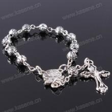 Ehrliche Lieferanten Katholische Handgemachte Imitation Perle Kreuz Rosenkranz Armband