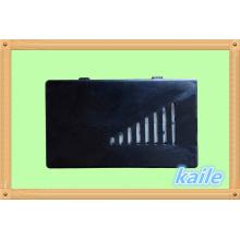 Doppel 6 farbenfrohes Lackdomino mit schwarzer Kunststoffbox