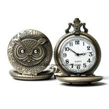 Reloj de bolsillo de cuarzo de Vinage con cadena