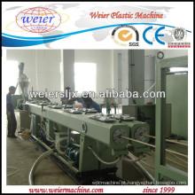 Fios e cabos elétricos proteção PVC tubulação que faz a máquina