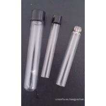 Claro tubo de vidrio Tubular atornillado