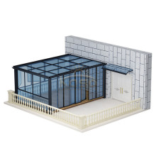 Aluminum Sliding Roof Pergola Glass House For Pool