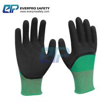 13G Polyester /Nylon Liner Latex Crinkle Foam Coated Working Glove EN388:2121X