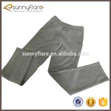 Pantalon chaud en cachemire pour femme avec poche