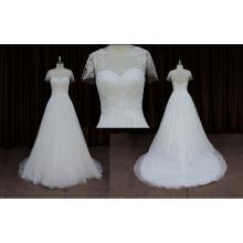Элегантный Коротким Рукавом Кружева Свадебное Платье