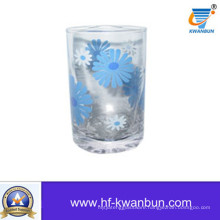 Flower Glass Cup with Decal Juice Cup Kb-Hn0419