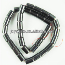 Natural hematite 6 * 12MM tubo solta grânulos para jóias