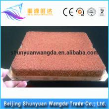 Espuma de cobre do metal da porosidade da alta qualidade da personalização com placa de cobre para a dissipação de calor