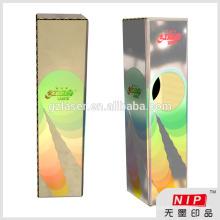 Kundenspezifische Gold / Silber Hologramm Box zum Falten Papierbox / Geschenkbox Verpackung