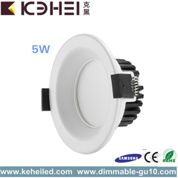 5W LED Dimbar Downlight 2,5 tum Vit Svart