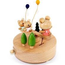 FQ marca moda escola amor amizade musical madeira luxo brinquedo caixa de música