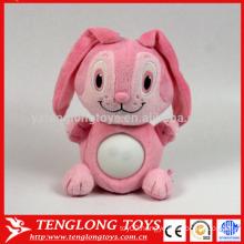 manufacturer animal LED plush pink toy rabbit