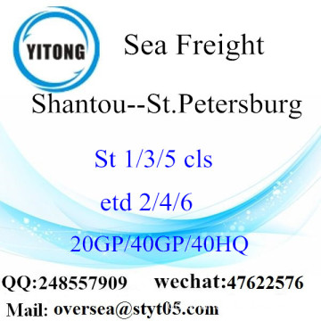 Shantou Port Sea Freight Versand nach St.Petersburg