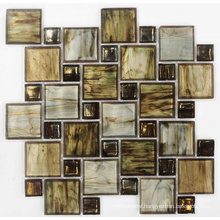 Brown Mix Crystal Glass Mosaic