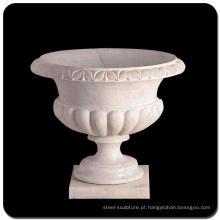 Potenciômetros de flor interiores de mármore baixo vaso de flores para venda