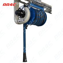 AA4C car exhaust extracting system auto vehicle exhaust manual fixed tumbler hose reel with fans control customize size