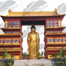 высокое качество бронзовый стоящая женская статуя Будды