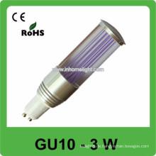 CE & ROHS 3w AC 85v-265v RGB mini führte Punktlicht gu10 Birne, 3 Jahre Garantie