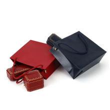 Handle Style Kraft Paper Material Bolsa de papel de navidad Present Gift Christmas Paper Bag