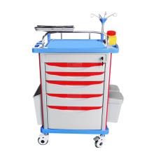 Portable ICU ABS America Style Emergency Stretcher Trolley Crash Cart